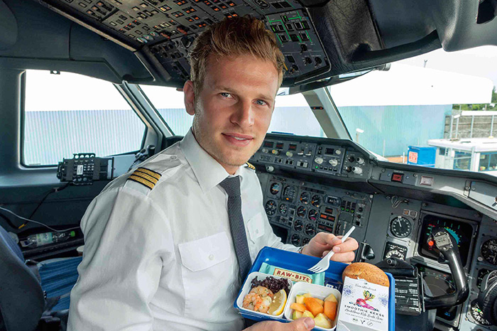Pilots are served Different meal